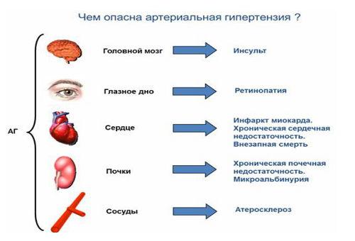 инфографика об опасности гипертонии
