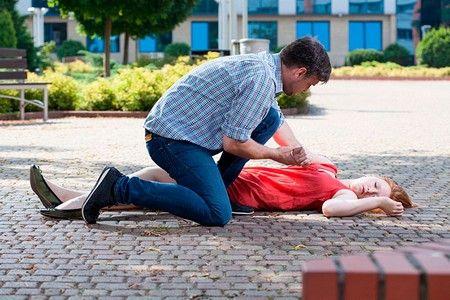 женщина упала в обморок