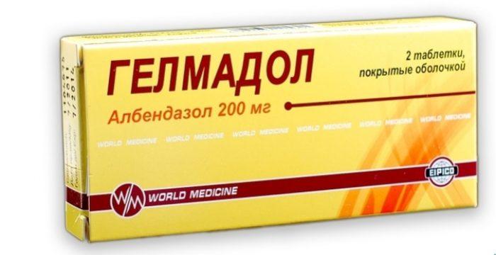 гелмодол содержит активный компонент альбендазол